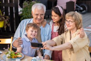 Selfie with Grandparents